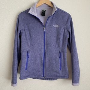 The North face lavender fleece zip up
